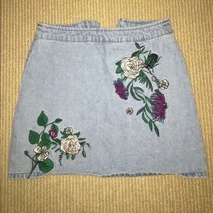 Coachella Inspired Denim Mini Skirt